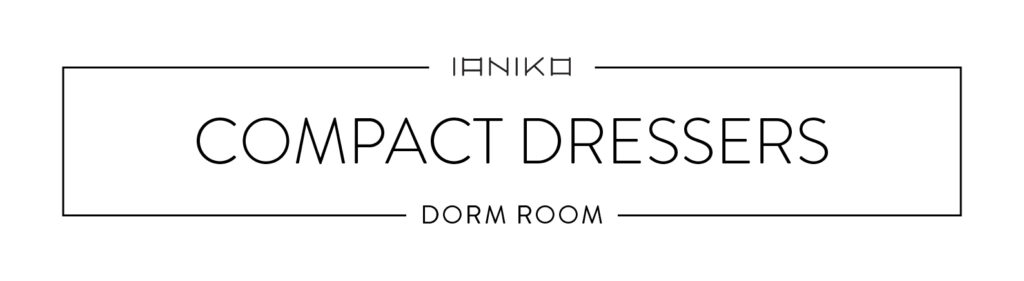 Minimalist Dorm Room - Compact Dressers