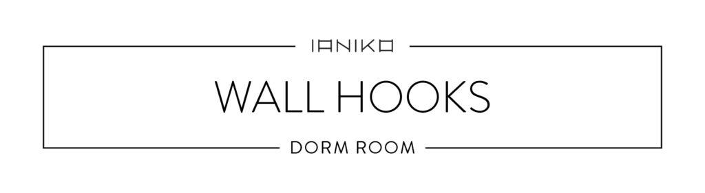 Minimalist Dorm Room - Wall Hooks