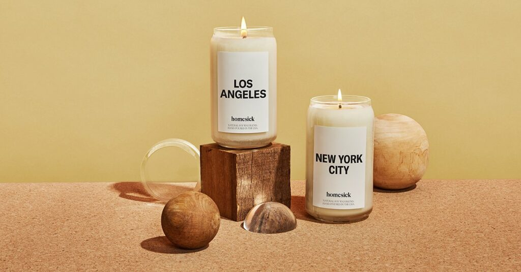 Non-Toxic Scented Candle Brands - Homesick