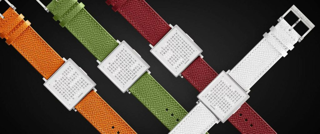 The Best Minimalist Digital Watches - QLOCKTWO W