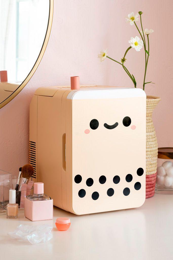 11 Best Mini Skincare Fridges For Beauty and Cosmetic Products - Smoko Pearl Boba Tea Mini-Fridge