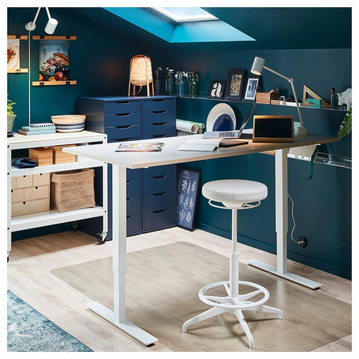 Best Minimalist Standing Desks & Desk Converters - Ikea SKARSTA Standing Desk