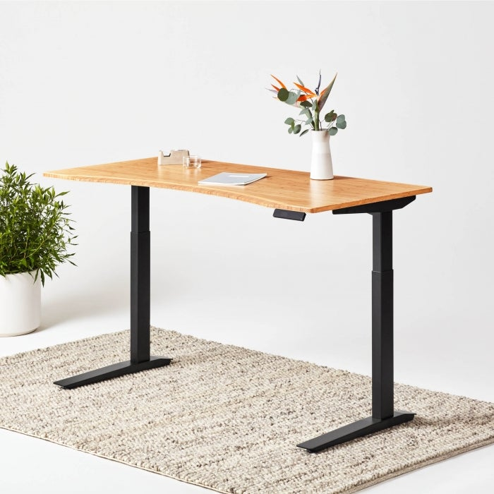 Best Minimalist Standing Desks & Desk Converters - Jarvis Bamboo Standing Desk