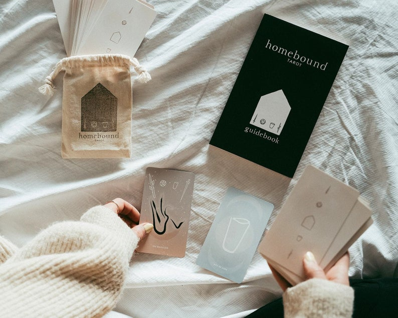 Minimalist Tarot Cards - Homebound Tarot Deck and Guidebook Set
